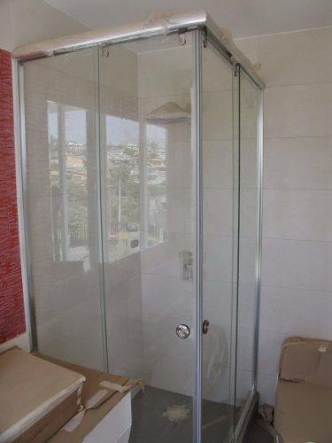 Puertas para ba o vidrio templado o acrilico s 1 00 en - Puertas de bano de vidrio ...