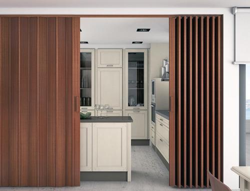 puertas plegables - madera clara y oscura - 140 x 220