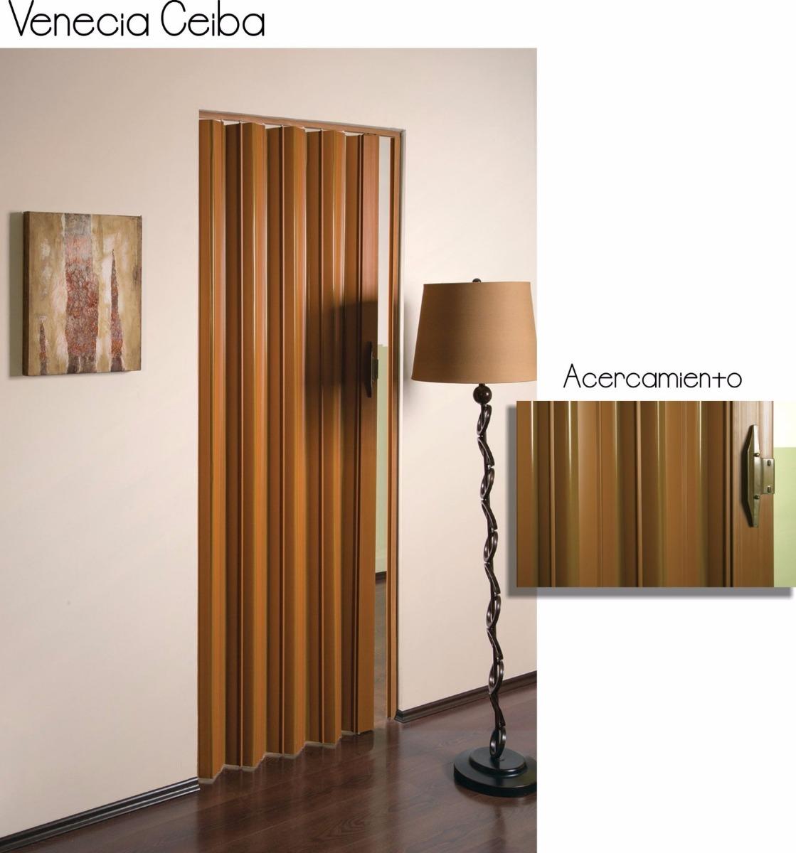 Puertas plegadizas de pvc imitacion madera 2 en for Puertas plegadizas de madera