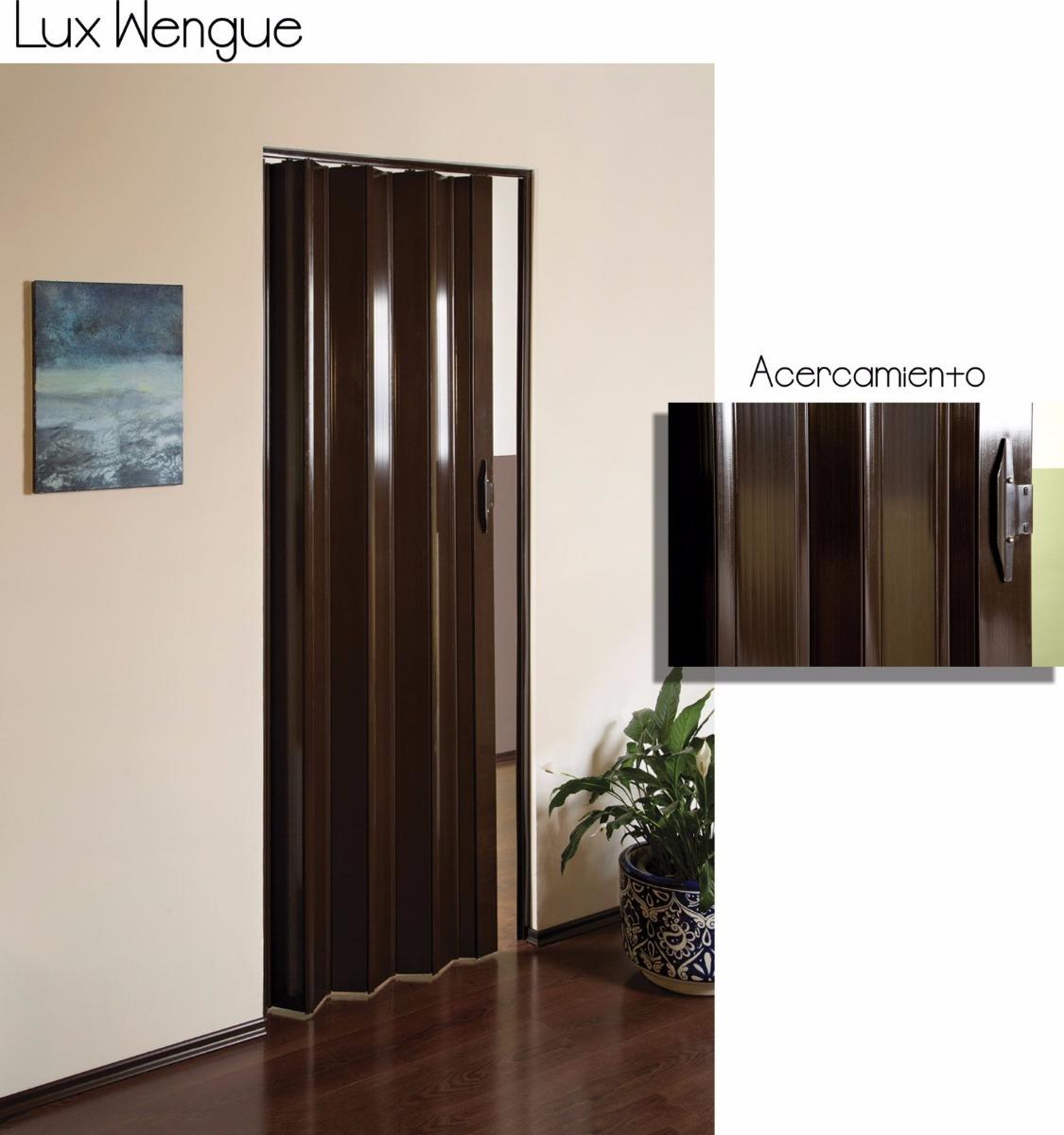 Puertas plegadizas de pvc imitacion madera 2 en for Puertas imitacion madera exterior