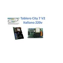 Tablero Italiano City 7/9 V2 220v Motor Porton Electrico