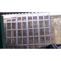 Portón De Reja De Tubular Metálico 2x1 Batiente Plegable