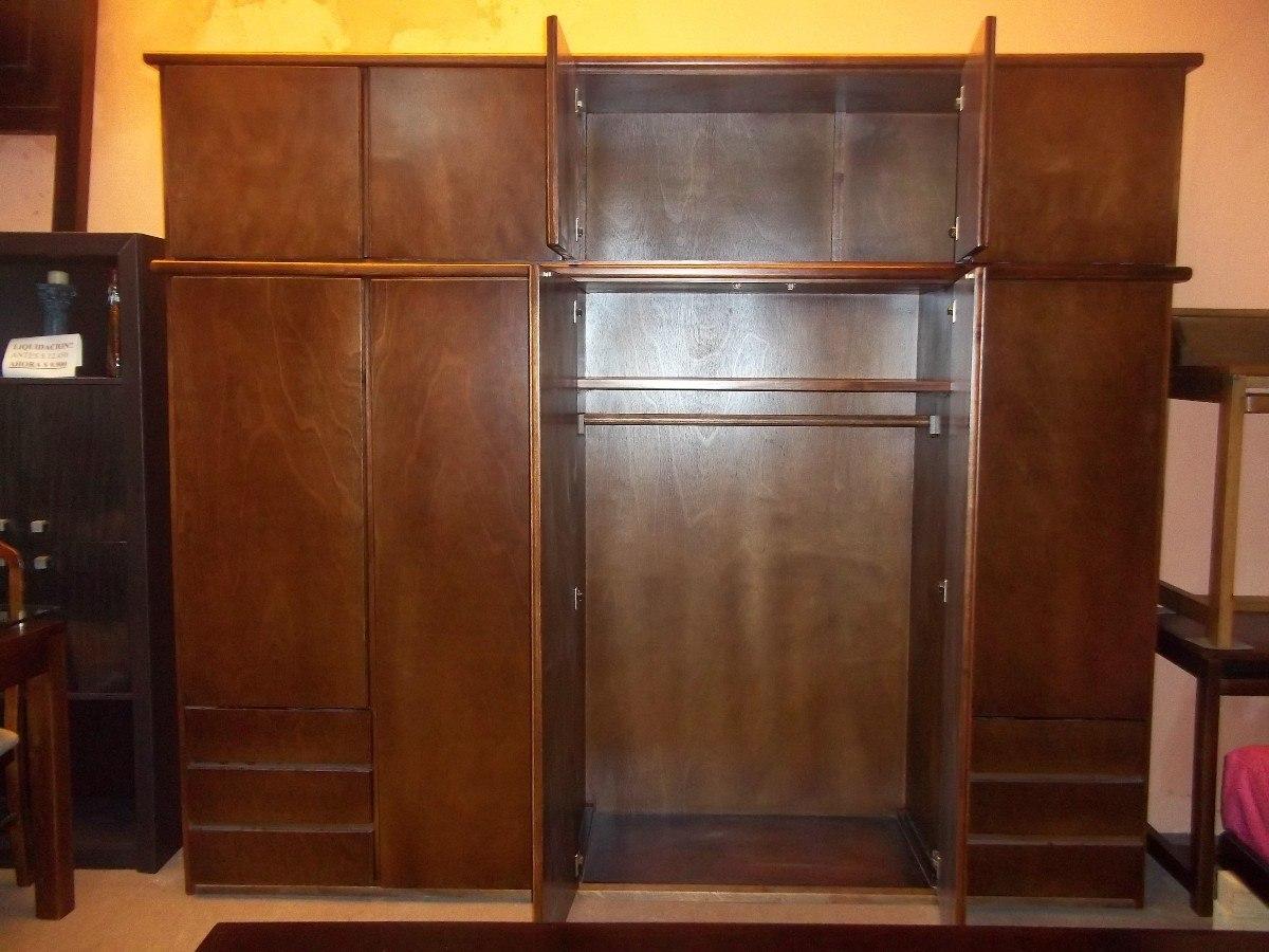Placard ropero 10 puertas 6 cajones dormitorio - Muebles roperos ...
