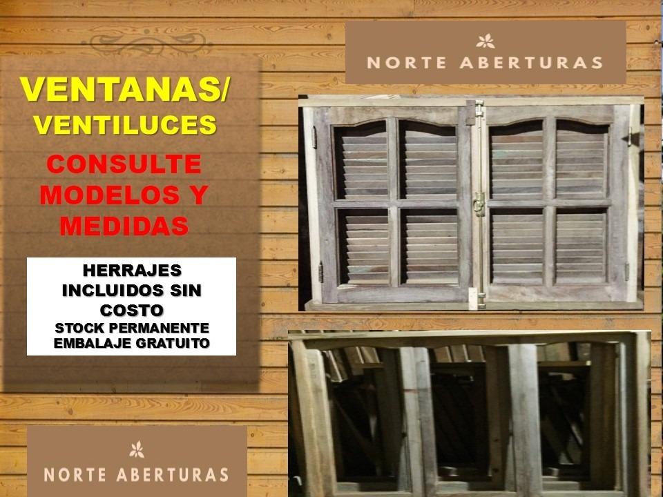 Puertas Ventanas Algarrobo Vidrio Entero Vidrios Repartidos ...