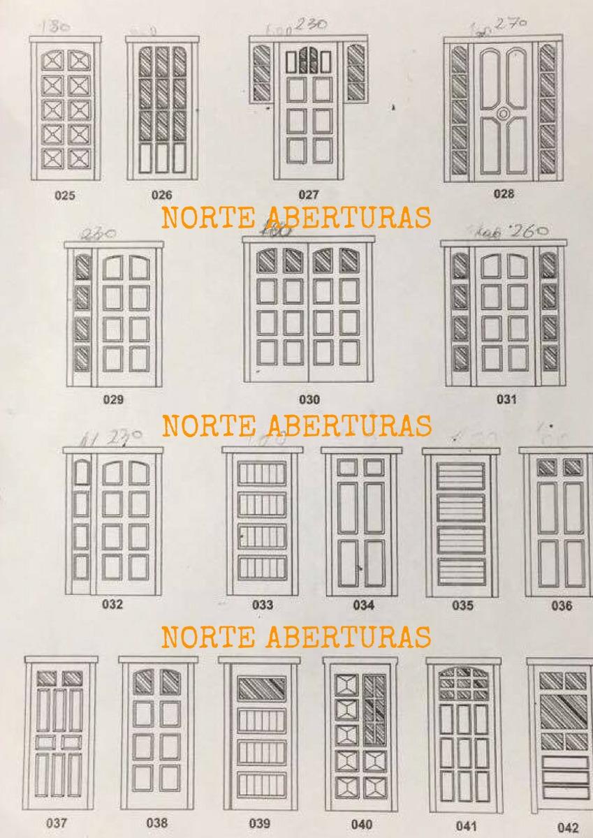 Puertas ventanas madera estandar o a medida en mercado libre for Puertas de aluminio medidas estandar