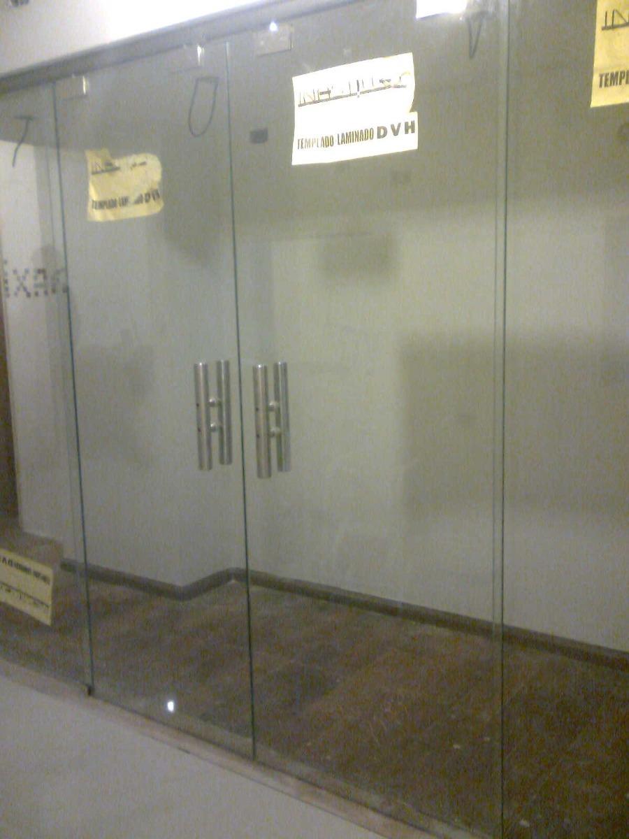 Puertas vidrio blindex c herrajes mamparas de ba o a for Herrajes para mamparas