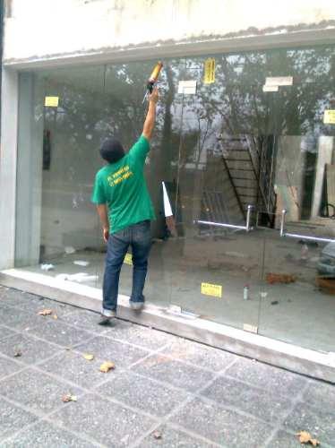 puertas vidrio blindex c/herrajes-mamparas de baño a medida