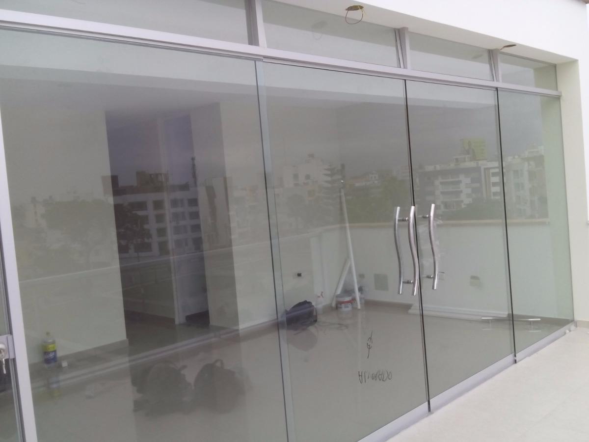 Puertas vidrio mamparas ventanas puertas de ba o espejos - Puertas cristal bano ...