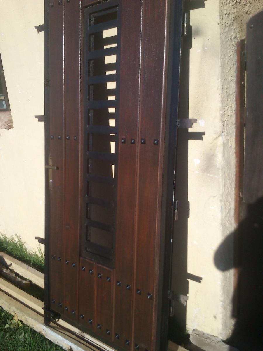 Puertas y portones de garage en hierro y madera o smart for Puertas y portones de madera