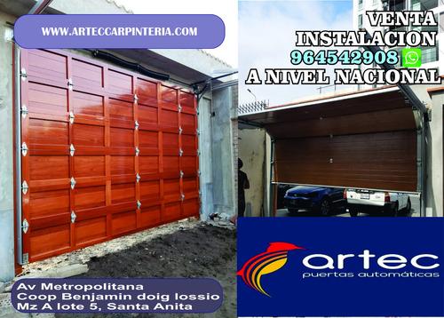 puertas y portones levadizas o seccionales