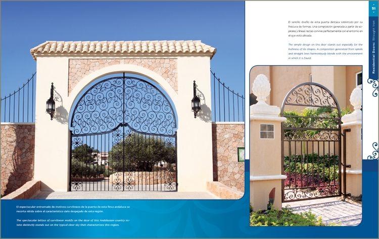 Puertas y portones residenciales de hierro 1 vol daly for Portones de hierro forjado para casas