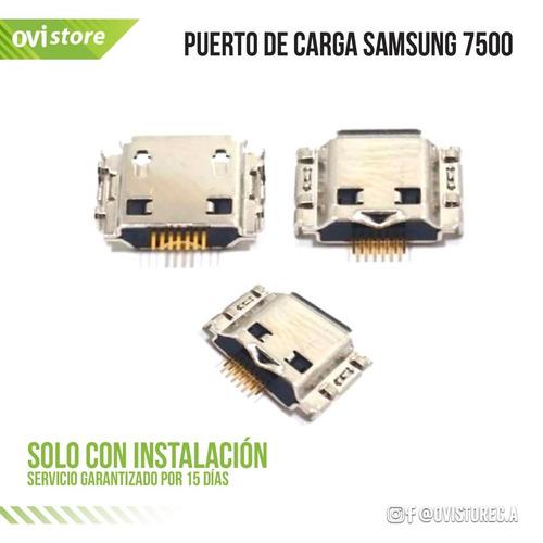 puerto de carga ping de samsung  7500  solo instalado