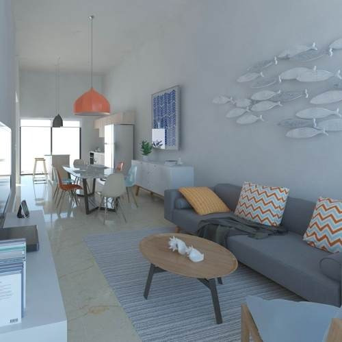 puerto lindo, chelem, casa modelo  coral