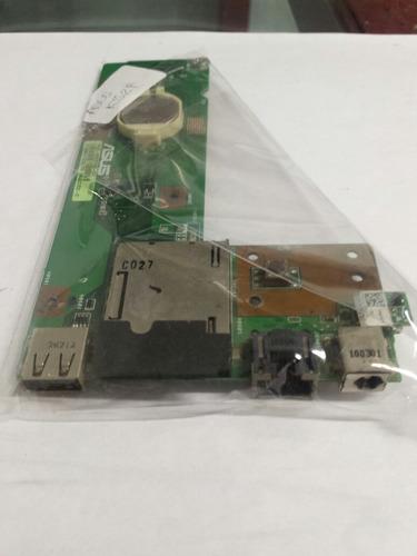 puerto usb-pin de carga- lector de memoria asus k52f(cod263)