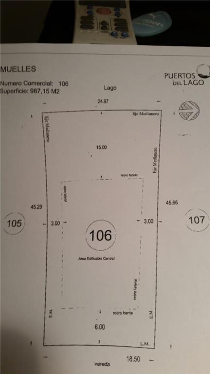 puertos - barrio muelles  - escobar - terrenos/fracciones/loteos terrenos - venta