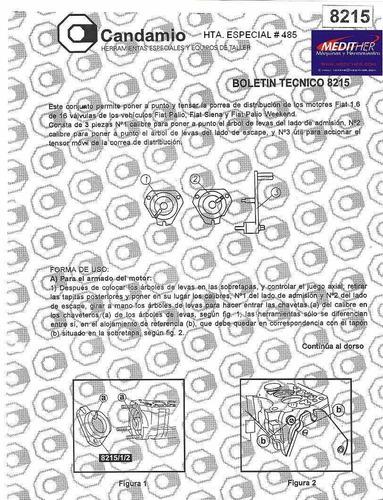 puesta punto fiat palio siena punto 16 v  herramienta nº 485