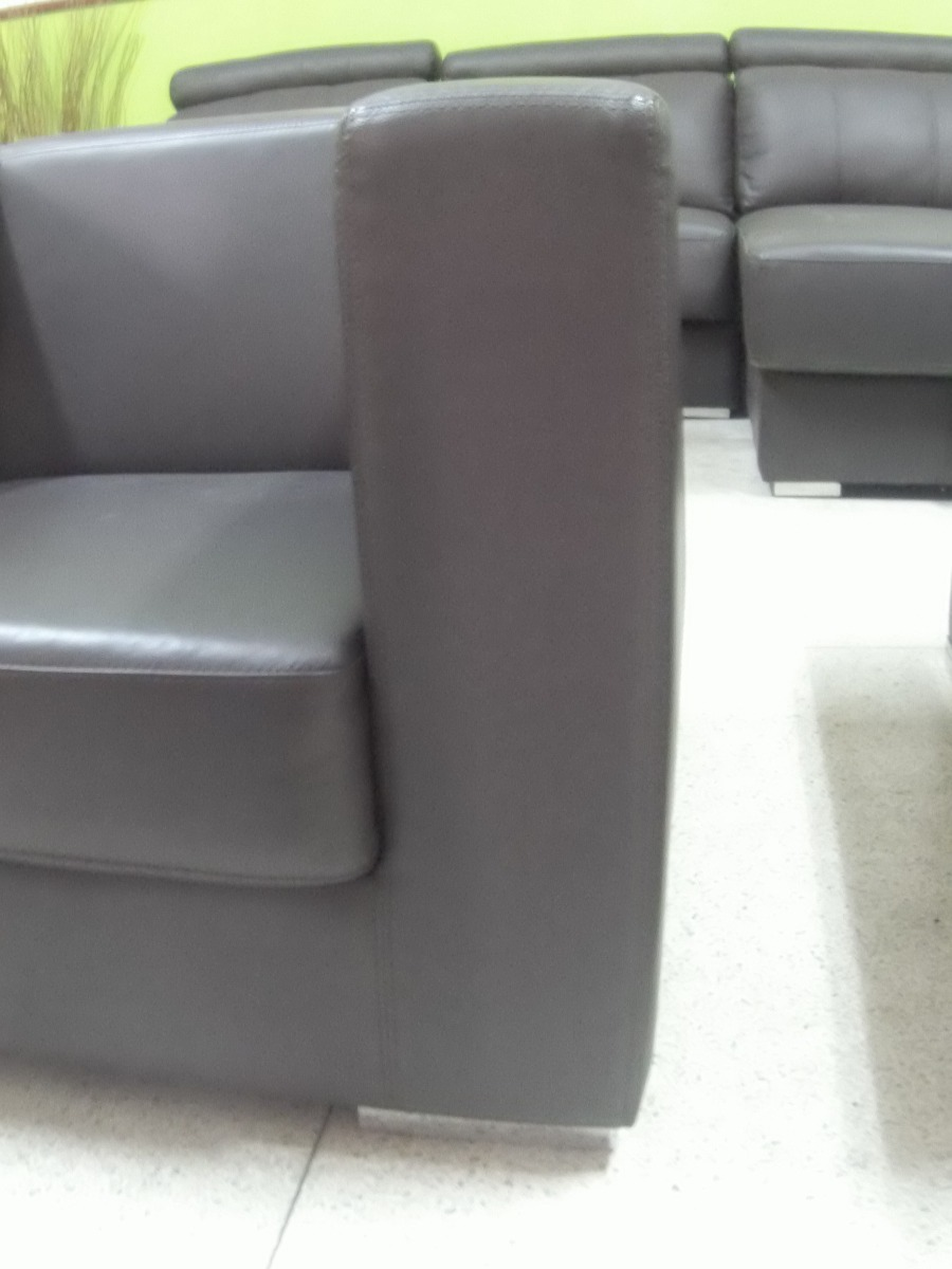 Muebles sofa individual 1 puesto poltrona de cuero bs for Muebles de sofa