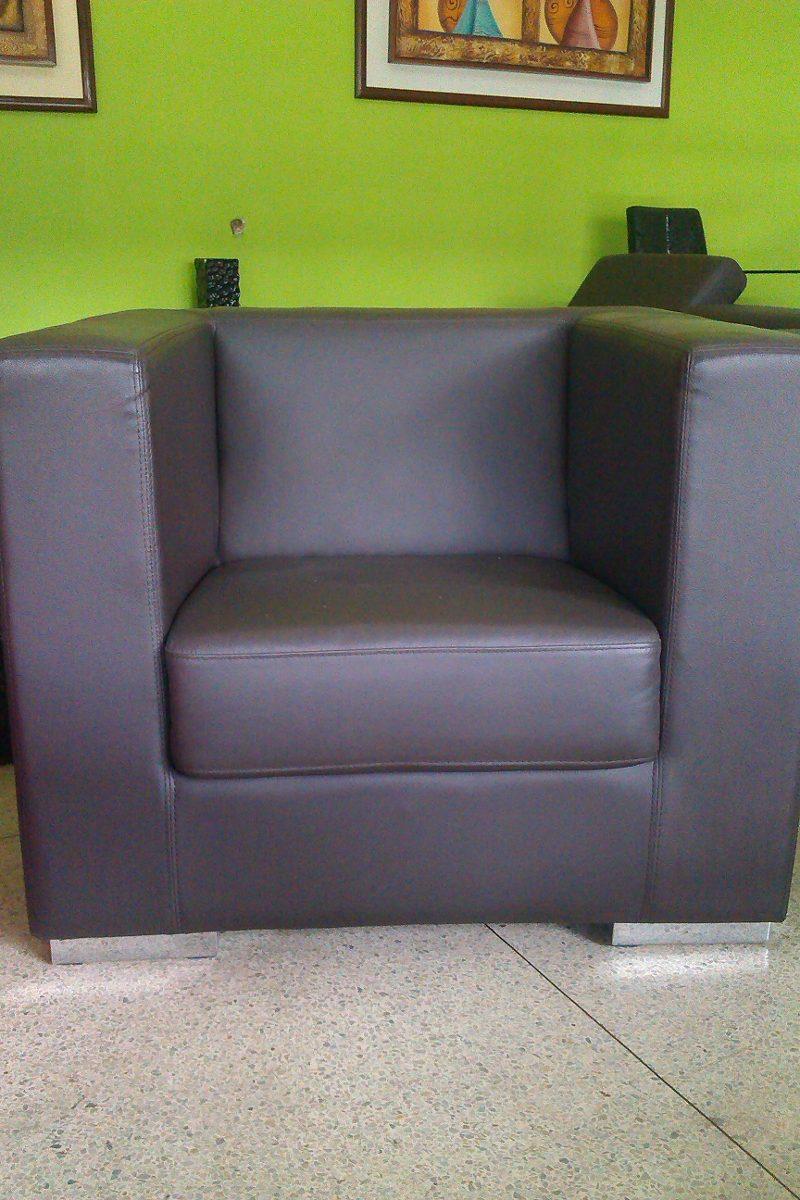 Muebles sofa individual 1 puesto poltrona de cuero bs 1 for Muebles sofa