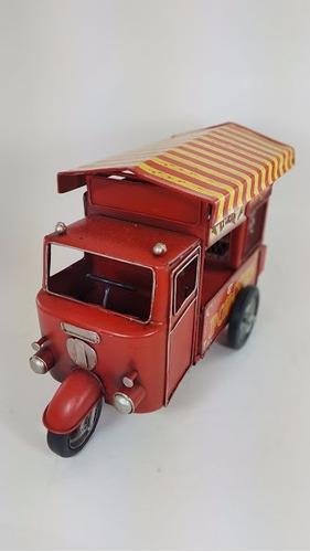 puesto de helados pochoclos moto miniatura decorativo escala