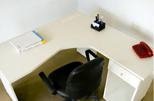 puesto de trabajo ergonomico gerencial escritorio en l
