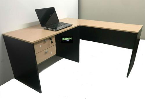 puesto de trabajo platinum escritorio 501 + nexo 524 kromo-s