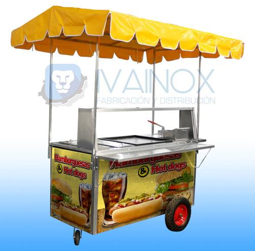 puesto hotdogs hamburguesas carro carrito carreta chg152