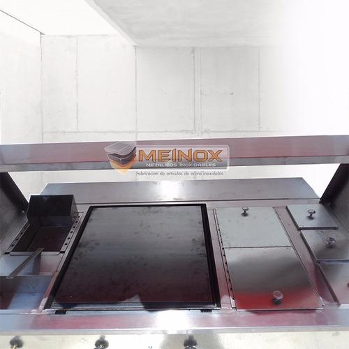 puesto hotdogs hamburguesas carro carrito carrito acero inox