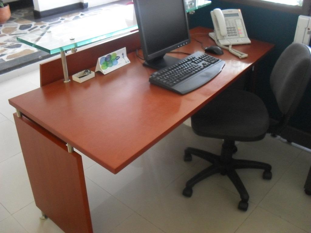 Escritorio Oficina Madera.Puesto Trabajo Escritorio Recepcion Oficina Madera Mueble 1 259