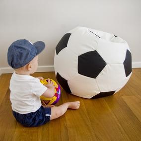 f5f599524c691 Puff Bola Futebol Infantil Cheio Quarto Criança Decoração