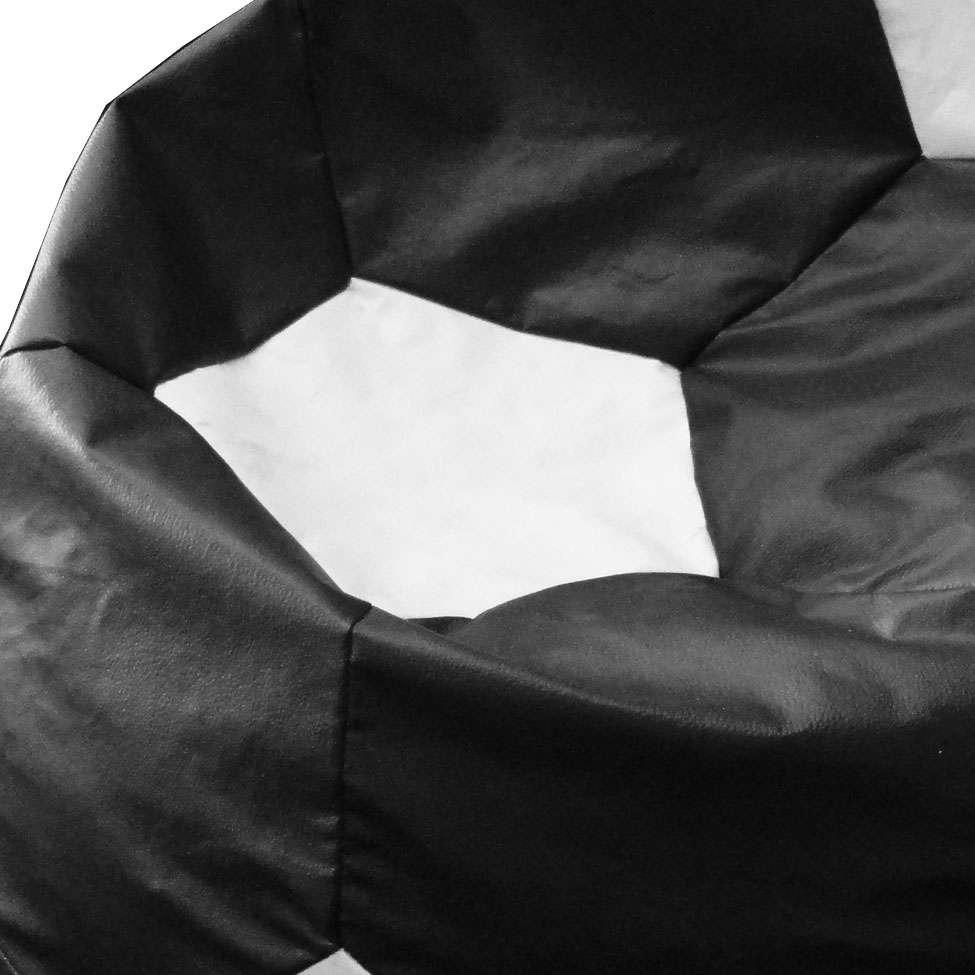 428d70186f puff ball futebol infantil em corino preto e branco. Carregando zoom.