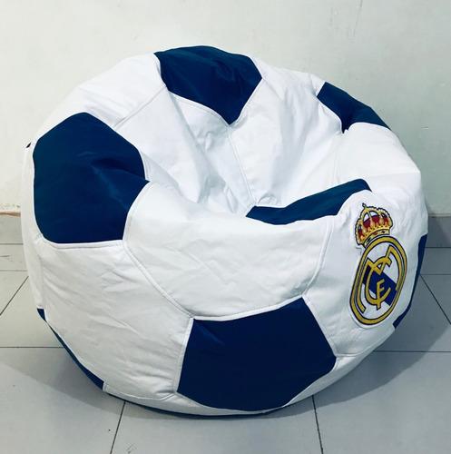 puff balon futbol soccer real madrid 75 cm de diametro