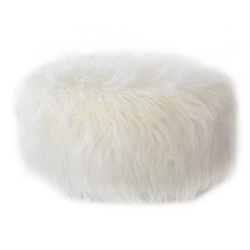 puff balto simil piel blanco 50cm nordico moderno living