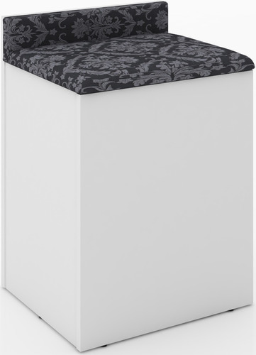 puff banco baúl tapizado asiento con respaldo silla 2052