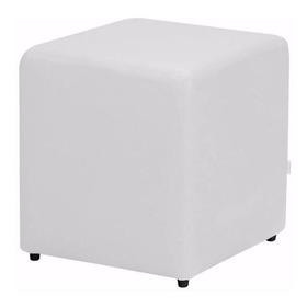 Puff Banquinho Cubo Quadrado Decorativo - Corino 34x34