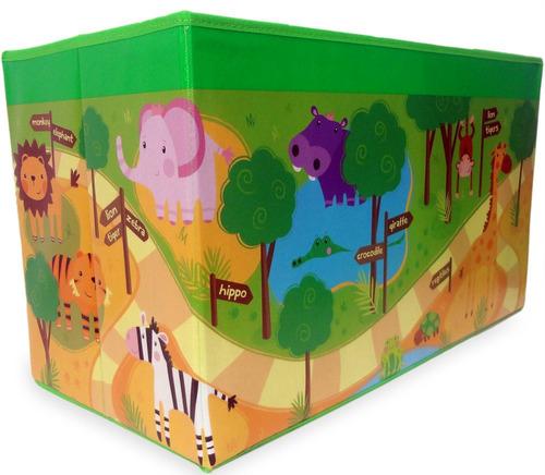 puff bau infantil para guardar brinquedos caixa criança