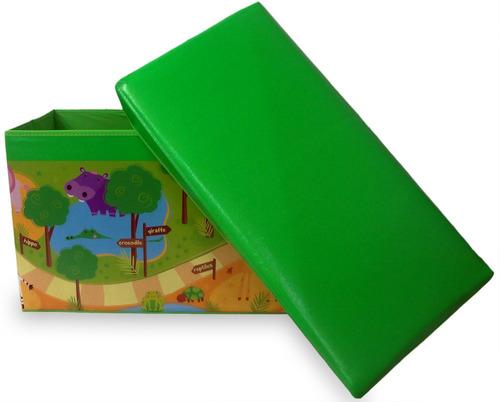 puff bau infantil para guardar brinquedos caixa organizadora