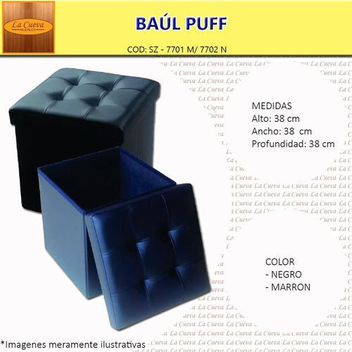 puff baúl - banco - living - comedor - dormitorio - lcm