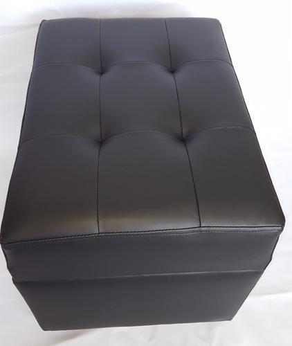 puff baul eco -cuero  60 x45 x 45
