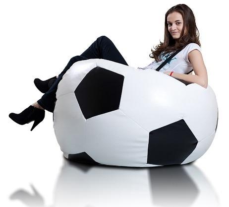 Puff Bola Futebol Cheio Com Enchimento Copa Do Mundo - R  115 4cf05546d1f8f