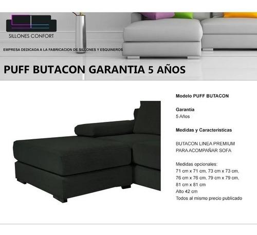 puff butacon 90 x 90 premium  para sillon sofa apoyapies