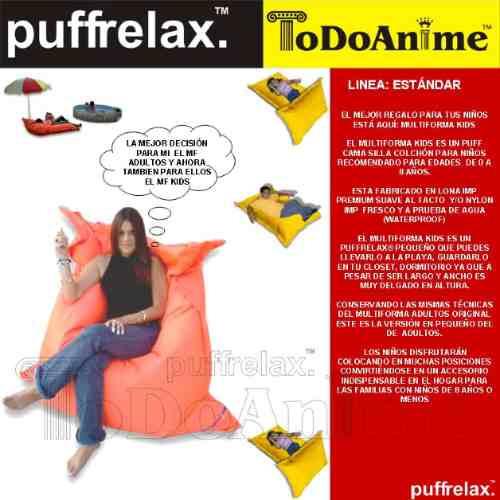 puff cama silla colchón niños lonatela relleno 100% original