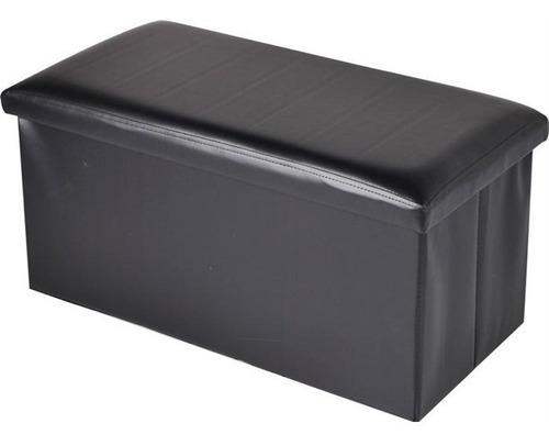 puff com bau em couro desmontavel grande 76cm sofa portatil