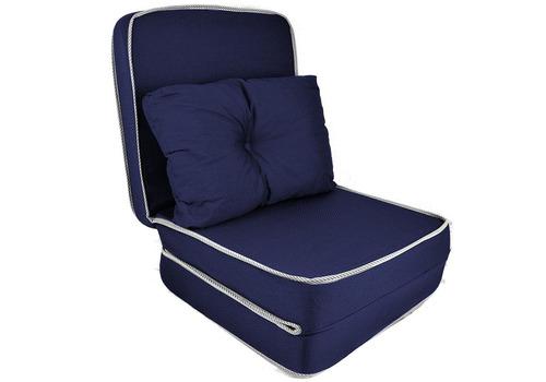 puff conforto 3x1 com travesseiro sofá colchão colchonete