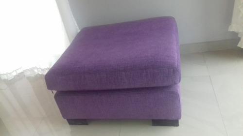 puff cuadrado chenille violeta