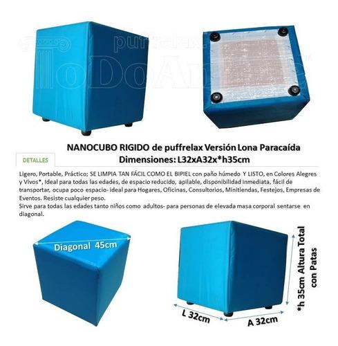 puff cubo rigido tapizados nano 32x32xh35cm tela lonapp
