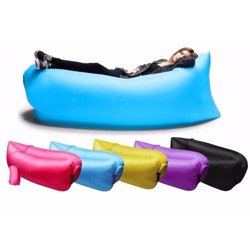 puff de aire inflable, cama para playa, parques, eventos etc