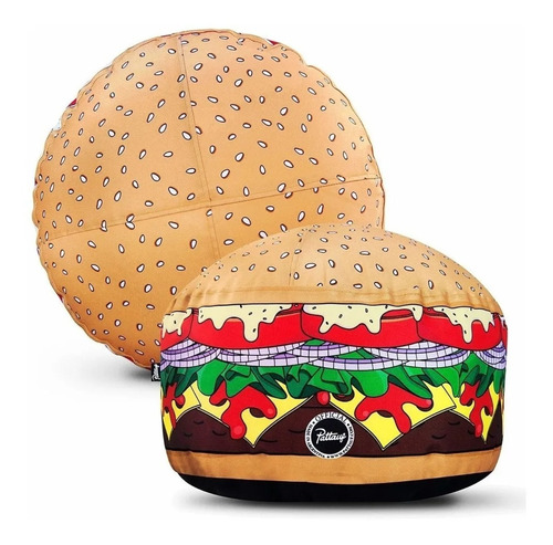 puff diseño hamburguesa original patauff - aj hogar
