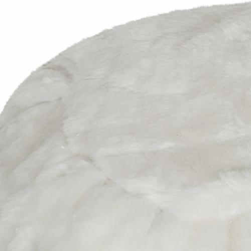 puff elite blanco tipo peluche elegante dirvertido dormipuff