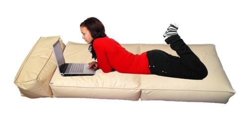 puff fiaca sillón cama ecocuero con respaldo movil oferta !!
