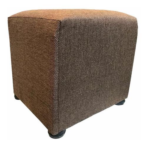 puff isla cuadrado madera tapizado a eleccion 55x55 mi casa